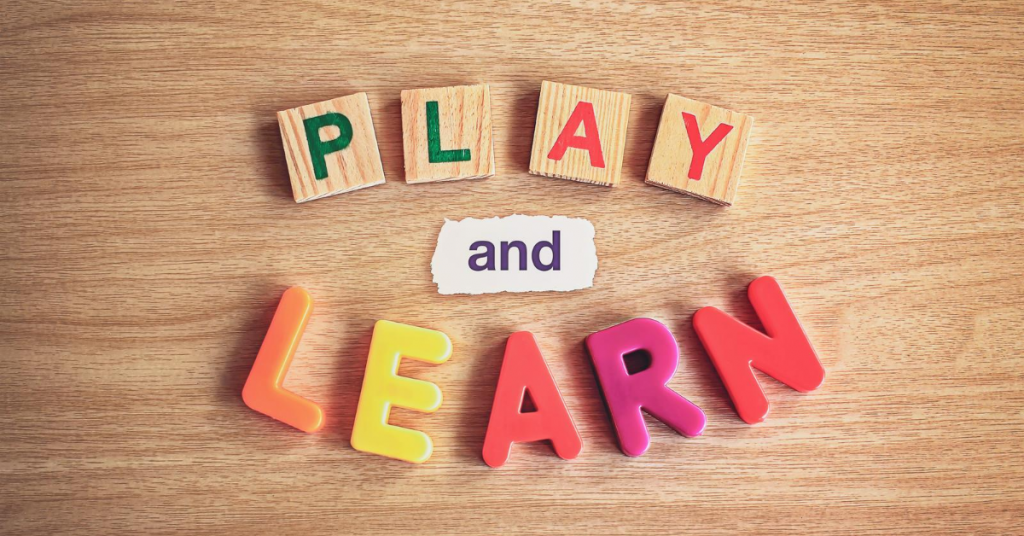 learn and play graphic